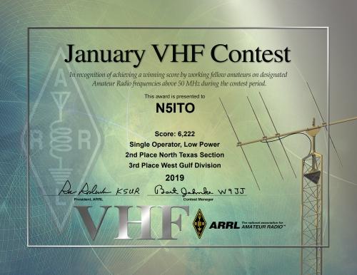 2019 Jan VHF N5ITO