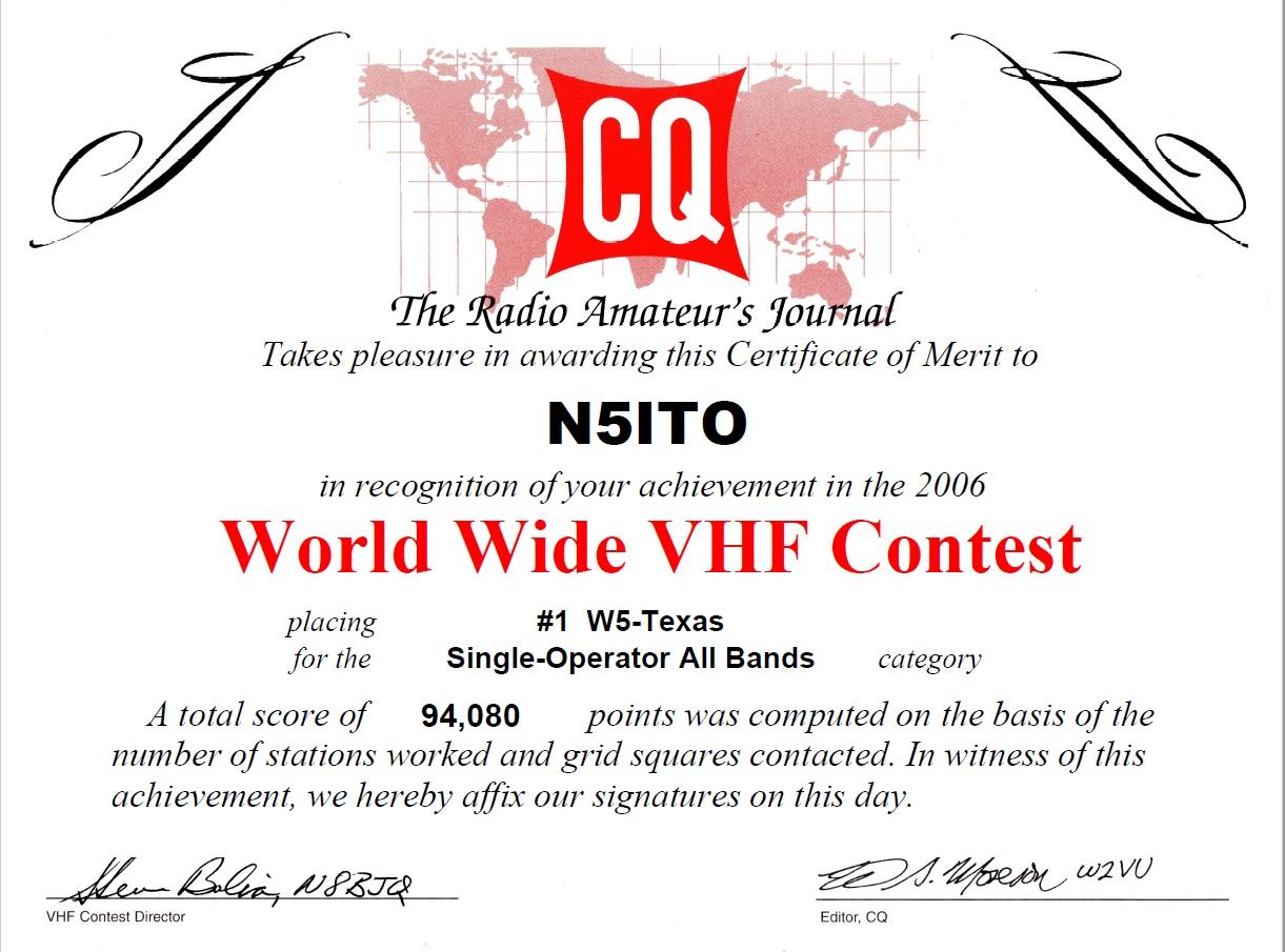 CQWWW-2006 - N5ITO